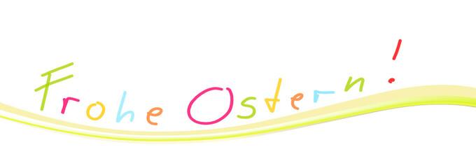 Frohe Ostern Welle Banner Grün