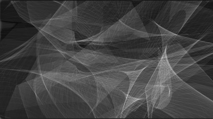 Abstract animated geometric lines on the dark background