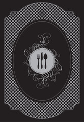 vector banner for restaurant menu with cutlery
