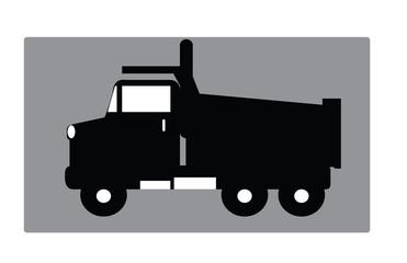 big truck black on white