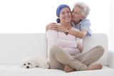 Chimiotherapie, femme Senior`