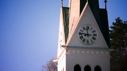and close up of a church clock