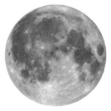 Full moon isolated