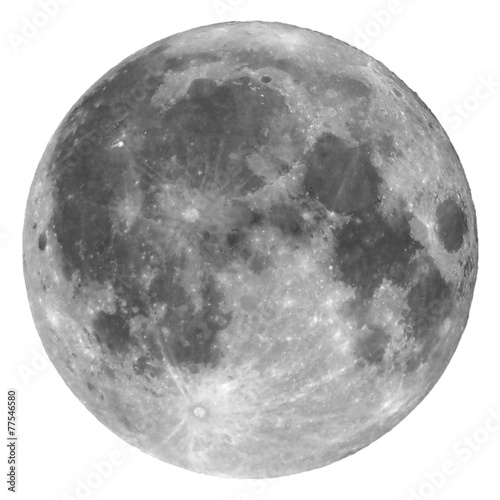 canvas print picture Full moon isolated