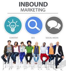 Inbound Marketing Commerce Social Media Concept