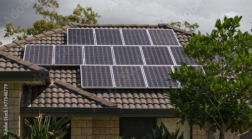 Solar panels on roof - 77546779