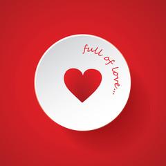 Heart Design Icon - Happy Valentine's Day Card or Icon