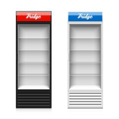 Upright glass door display fridge