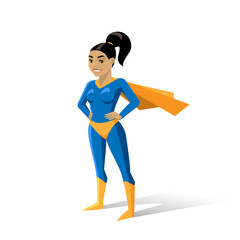 cartoon character woman hero in a suit