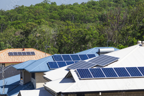 Solar panels on roofs - 77547108