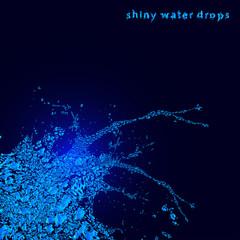 Abstract water splash background, vector illustration.