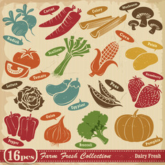 Vintage Farm Fresh design element