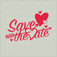 Save the Date invitation card for the wedding.
