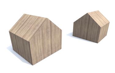 wooden house minimal