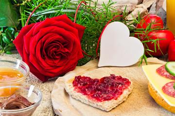Frühstück mit Liebe, Textfreiraum