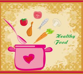 banner healthy food
