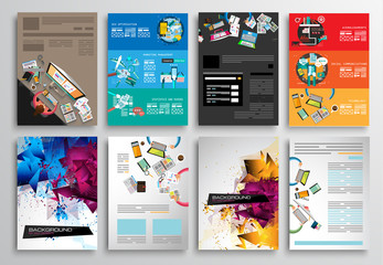 Set of Flyer Design Brochure Designs, Infographics