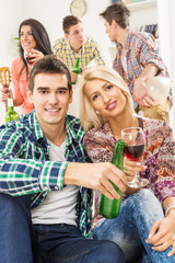Young Couple At House Party