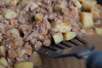 potatoes with stewed meat