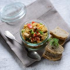 Veganer Couscous Salat