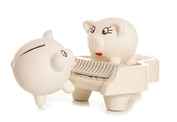 serenading the mrs piggy bank