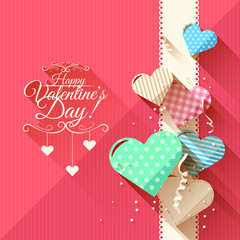 Valentine's Day greeting card - flat design style