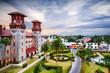 Leinwanddruck Bild - St. Augustine, Florida, USA at Alcazar Courtyard