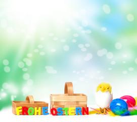 Frohe Ostern, Osterkarte