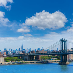 Manhattan Bridge from Brooklyn New York City