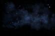 Sternenhimmel mit blauem Nebel - 77554958