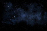 Sternenhimmel mit blauem Nebel