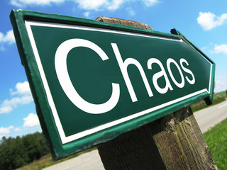 CHAOS road sign