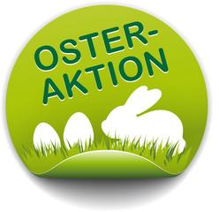 Button Osteraktion mit Hase und Eiern