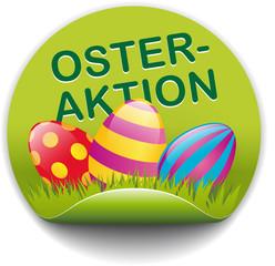 Button Osteraktion mit bunten Eiern