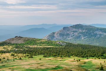 Вид с вершины горы Большой Иремель
