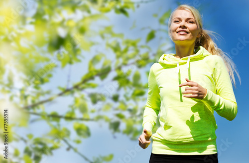 canvas print picture woman jogging outdoors