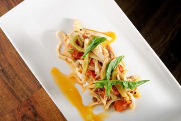 Seafood Spaghetti with squid