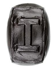 Handmade ceramic letter I