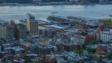 top view of the Manhattan skyline, New York city