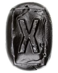 Handmade ceramic letter X