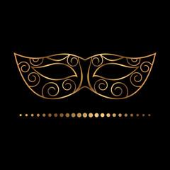 delicate golden mask
