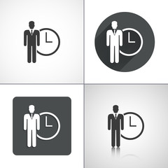 Business time icons. Set elements for design