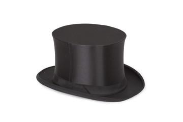 Alte Zylinder. Black top hat on white
