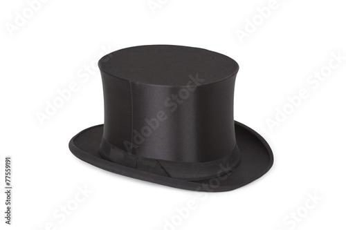 Alte Zylinder. Black top hat on white - 77559191
