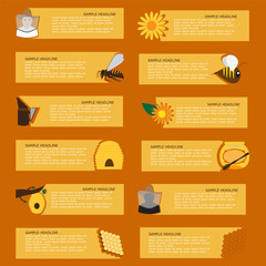 vector banners and or infographics for   beekeepers