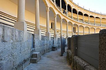 Callejón de la Plaza de Toros de Ronda, Málaga, España