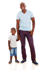 african american man with and son