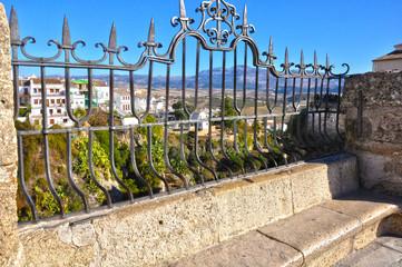 Ronda, Málaga, España, vista desde un balcón al Tajo