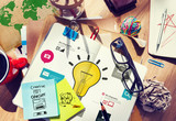 Fototapety Ideas Inspiration Creativity Biz Infographic Innovation Concept