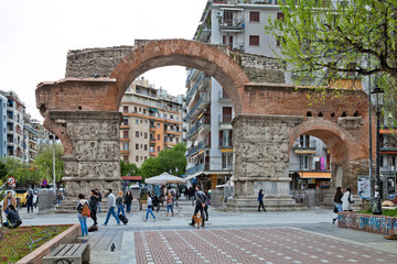 Греция. Салоники. Арка Галерия (Триумфальная арка)